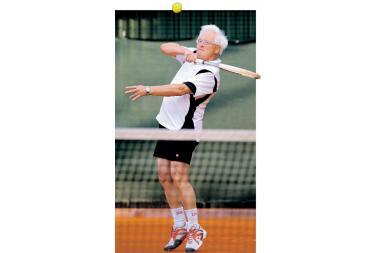 Profesorių žavi ir tenisas, ir robotai