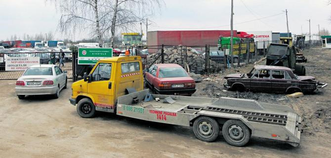 Konfiskuotu automobiliu aikstele vilniuje