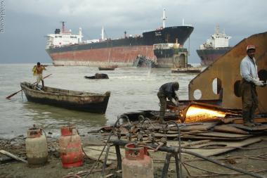 Bangladesh - the largest ship graveyard