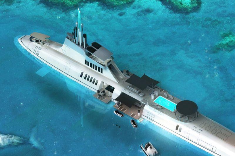 Į gelmes –  povandeninėmis  jachtomis