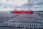 Rusijos      uostų     galia     auga